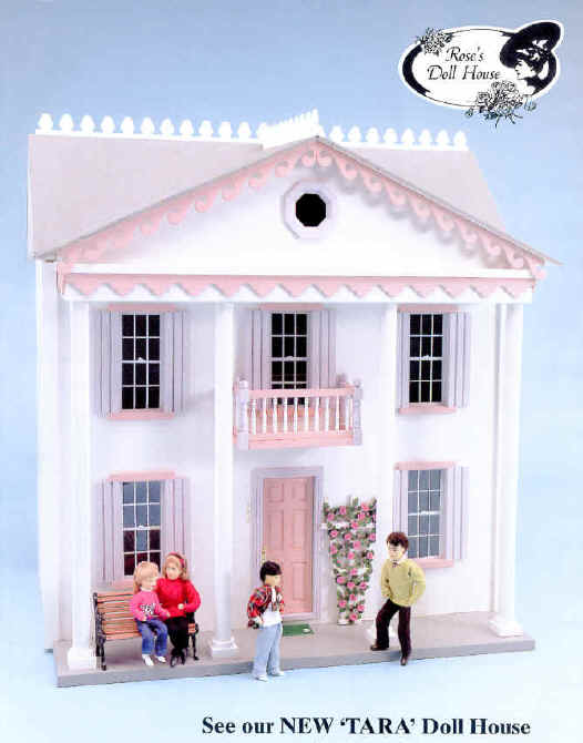 Roses Doll House house Of Miniatures is a full line doll house and